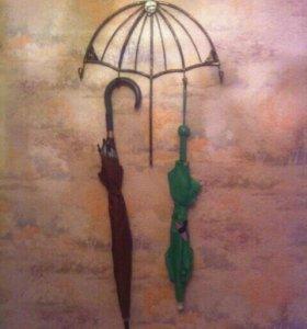 Вешалка металлическая для зонтов.