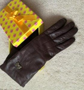 Кожаные новые перчатки, 7,5