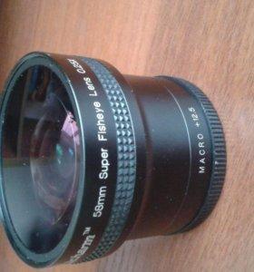 Fisheye насадка на объектив 58 мм 0.25х