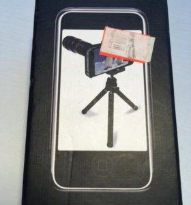 Чехол на iPhone 4/4s+штатив+ приближенная камера