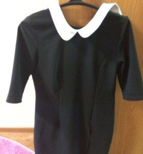 Школьная форма от48 размер+ фартук (Чёрный)