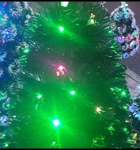 Красивая елка с подсветкой
