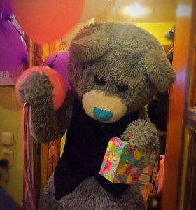 """"""" живая открытка"""" Мишка Тедди.экспрес поздравление"""