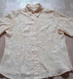 Нарядная блуза с оригинальными рукавчиками