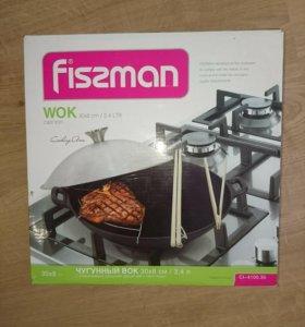 Новая сковорода Wok с крышкой