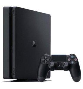 Sony PlayStation 4 Slim 1 ТБ (Black)(комплект)