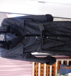пальто плащовка с мехом