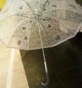 Свадебный зонт от дождя снега и солнечных лучей.