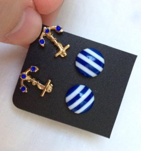 Серьги новые сережки бижутерия