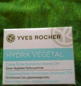 Гель-Крем Yves Rocher Интенсивное Увлажнение 24