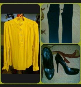 Блузка+брюки+туфли