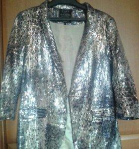 Пиджак нарядный с пайетками