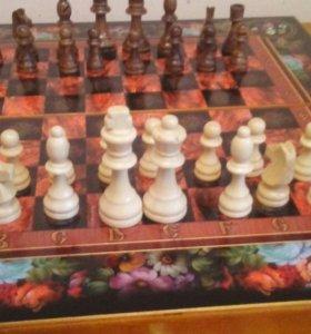 Шахматы+нарды ЦВЕТЫ