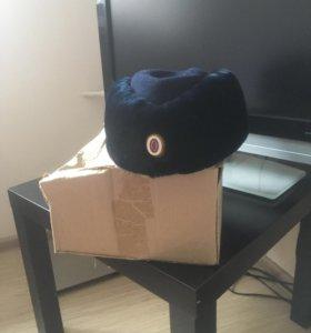 Уставная шапка сотрудника полиции, зимняя,новая