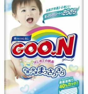 Новая упаковка подгузников Goon L