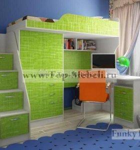 Кровать-чердак и лестница