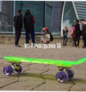 Скейтборд T T L 40 3 с подсветкой Лучший