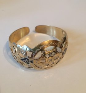 Кубачинский серебряный браслет с позолотой