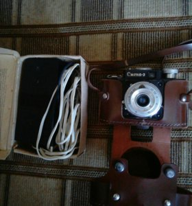 Фотоаппарат и фотовспышка СССР