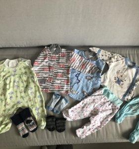 Пакет одежды на мальчика 56-68