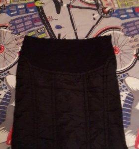 Зимняя юбка для беременных р.52