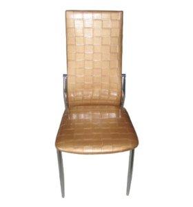 Кухонные стулья F68-2 (золотистый плетёный к/з)