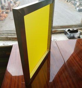 Шелкография. Алюминиевые рамы 50х60.