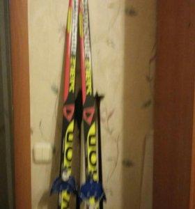Лыжи с палками 1.5 м детские