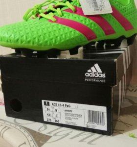 Бутсы adidas новые размер 43!!!