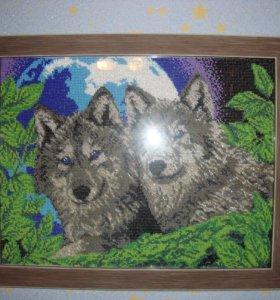 Картины и иконы вышитые бисером