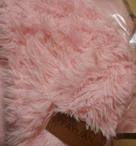 Плед пушистик розовый