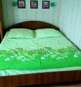 Двуспальная евро кровать с матрасом