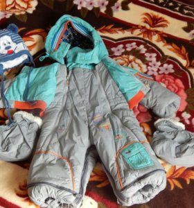 Детский комбинезон (конверт) осень-зима + шапочка