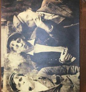 Постер «Острые козырьки». Холст, крафт бумага.