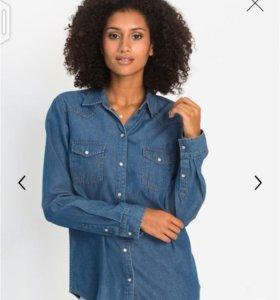 Рубашка джинсовая 56 размер