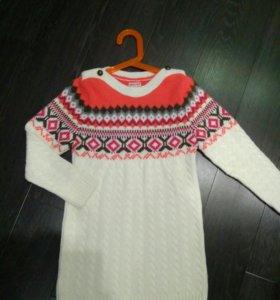 Тёплое платье-туничка 116