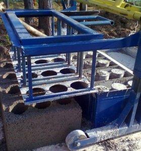 станок для изготовления блоков+телега