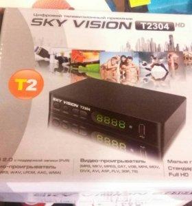 Тв приставка dvbT2 sky vision T2304HD