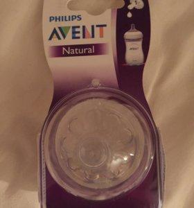 Соска силиконовая Philips AVENT natural 0m+