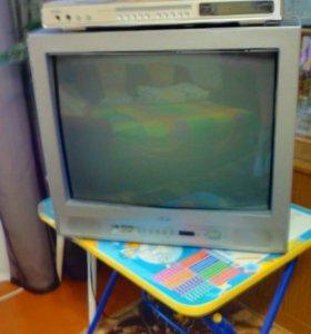 Телевизор и DVD караоке