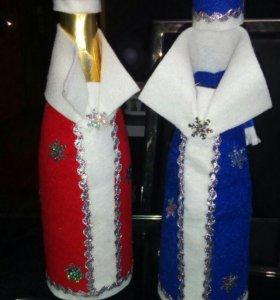 Новогодние футляры на шампанское