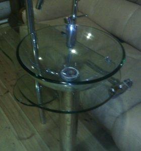 Раковина(стекло) + смеситель