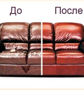 Перетяжка и ремонт дивана - качество