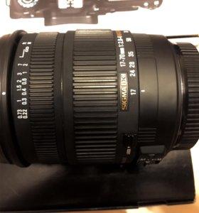 Sigma 17-70 mm F2.8-4 DC Macro OS HSM для Canon