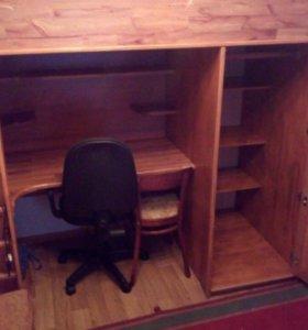 Детский уголок (кровать, шкаф, стол)