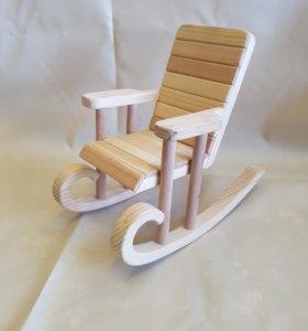 Кресло-качалка для кукол и мишек