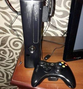 Xbox 360 + наушники и игра