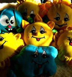 Игрушки-подушки новые солнышко смешарик подсолнух