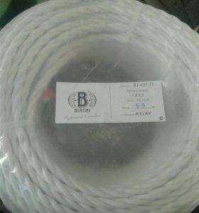 Провод витой ретро Bironi белый 3х2.5мм2