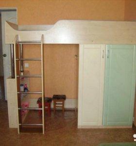 Детская мебель - шкаф, кровать, стол, комод